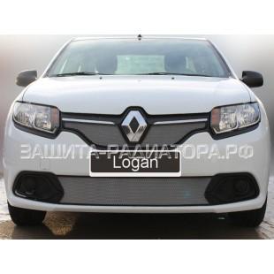 защита радиатора Рено Логан (Renault Logan) II 2014-2018 г.в.  Access, Comfort