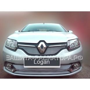 защита радиатора Рено Логан (Renault Logan)  2014-2018  Privilege, Luxe Privilege