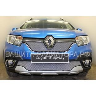 защита радиатора Рено Логан Степвей (Renault Logan Stepway) 2018-2020 г.в.