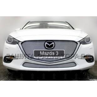 защита радиатора Мазда 3 (Mazda 3) III рестайлинг 2016-2020 г.в.
