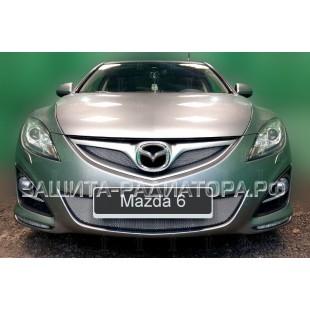 защита радиатора Мазда 6 (Mazda 6) II рестайлинг 2010-2012 г.в.
