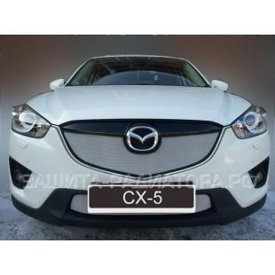 защита радиатора Мазда СХ-5 (Mazda CX-5) I 2012-2015 г.в.