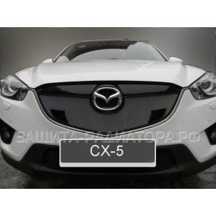защита радиатора Мазда CX-5 (Mazda CX-5) I 2012-2015 г. в. с парктроником