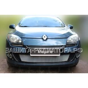 защита радиатора Рено Меган 3 (Renault Megane III) рестайлинг 1 2012-2014 г.в.