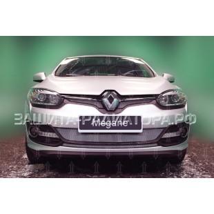защита радиатора Рено Меган 3 (Renault Megane III) рестайлинг 2 2014-2016 г.в.