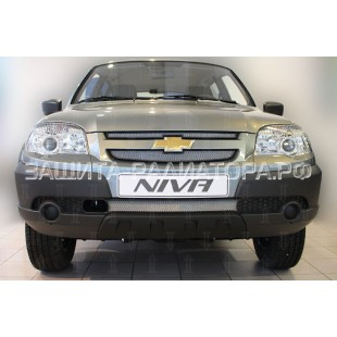 защита радиатора Шевроле Нива  (Chevrolet Niva) I рестайлинг 2009-2020 г.в.