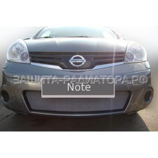 защита радиатора Ниссан Ноут (Nissan Note) I рестайлинг 2009-2014 г.в.