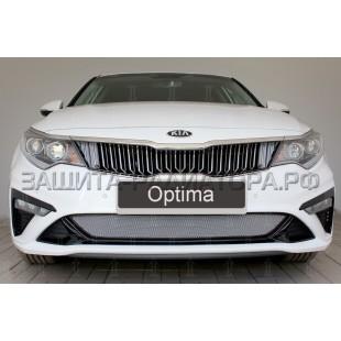 защита радиатора Киа Оптима (Kia Optima) IV рестайлинг 2018-2020 г.в.