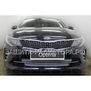 защита радиатора Киа Оптима (Kia Optima) IV 2015-2018 г.в. (GT/GT-Line)
