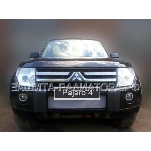 защита радиатора Митсубиси Паджеро 4 (Mitsubishi Pajero IV) 2006-2011 г.в.
