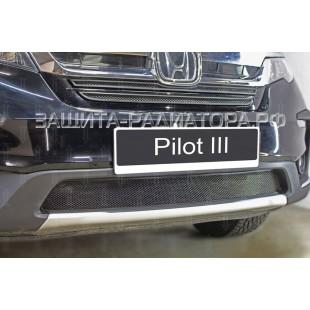 защита радиатора Хонда Пилот (Honda PILOT)  2018-