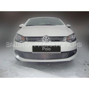 защита радиатора Фольксваген Поло (Volkswagen Polo) седан 2010-2015 г.в.