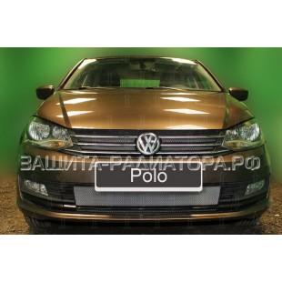 защита радиатора Фольксваген Поло (Volkswagen Polo) седан (рестайлинг) 2015-2019 г.в.