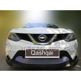 защита радиатора Ниссан Кашкай (Nissan Qashqai) II 2014-2019 г.в. с парктроником