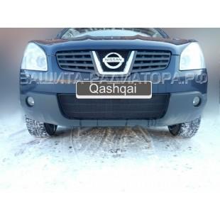 защита радиатора Ниссан Кашкай (Nissan Qashqai) I 2006-2010 г.в.