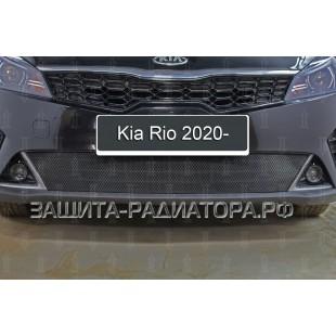 защита радиатора Киа Рио 4 (Kia Rio IV ) рестайлинг 2020-2021