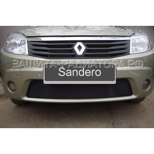 защита радиатора Рено Сандеро (Renault Sandero) I 2010-2014 г.в.