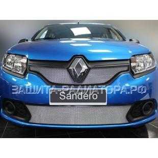 защита радиатора Рено Сандеро (Renault Sandero) II 2014-2018 г.в.
