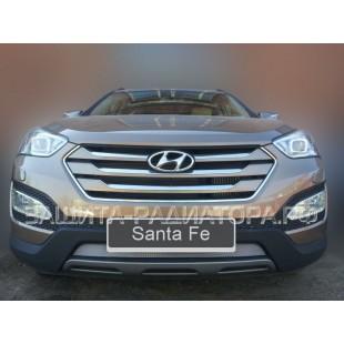 защита радиатора Хендай Санта Фе (Hyundai Santa Fe) III 2013-2016 г.в.