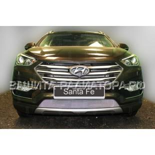 защита радиатора Хендай Санта Фе (Hyundai Santa Fe) III рестайлинг 2015-2018 г.в.