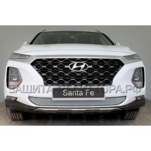 защита радиатора Хендай Санта Фе (Hyundai Santa Fe) IV 2018-2020 г.в.