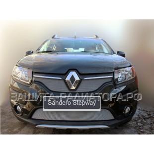 защита радиатора Рено Сандеро Степвей (Renault Sandero Stepway) II 2014-2018 г.в.