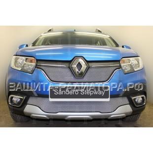 защита радиатора Рено Сандеро Степвей (Renault Sandero Stepway) II рестайлинг 2018-2020 г.в.