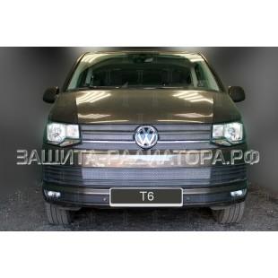 защита радиатора Фольксваген Мультивен-Каравелла Т6 (Volkswagen Multivan Caravelle T6) 2015-2018 г.в.