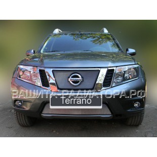 защита радиатора Ниссан Террано (Nissan Terrano) III 2014-2018 г.в.