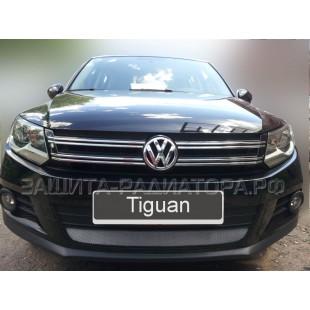 защита радиатора Фольксваген Тигуан (Volkswagen Tiguan) I рестайлинг 2011-2016 г.в.