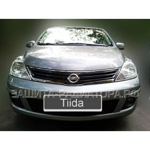 защита радиатора Ниссан Тиида (Nissan Tiida) I рестайлинг 2010-2014 г.в.