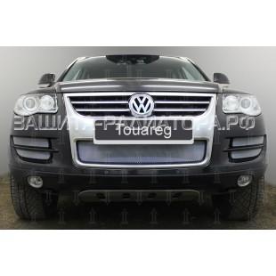 защита радиатора Фольксваген Туарег (Volkswagen Touareg) I рестайлинг 2007-2010 г.в.