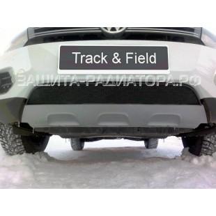 защита радиатора Фольксваген Тигуан (Volkswagen Tiguan) Track and Field 2012-2016 г.в.