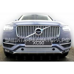 защита радиатора Вольво ХС 90 (Volvo XC90) II 2014-2020 г.в. с парктроником