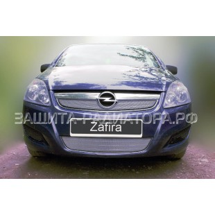 защита радиатора Опель Зафира (Opel Zafira) B рестайлинг 2008-2014 г.в.