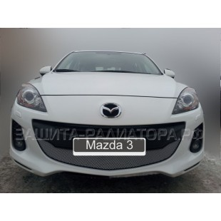 защита радиатора Мазда 3 (Mazda 3) II рестайлинг 2011-2013 г.в.